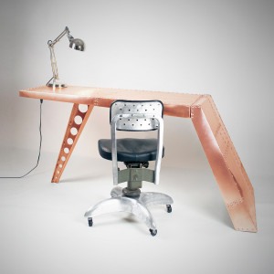 Aviator Airfoil Desk -Copper