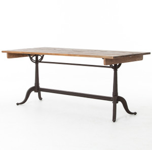 French Library Vintage Industrial Desk