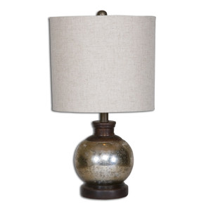 Arago Antiqued Glass Table Lamp