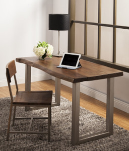 Montana Solid Wood Metal Leg Desk