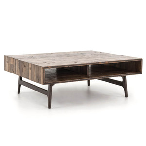 "Lester Reclaimed Oak Wood Coffee Table 47"""