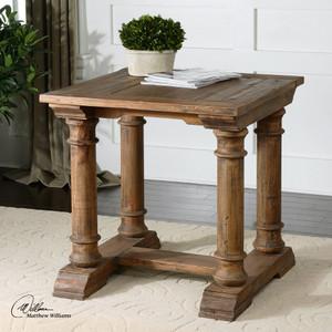 Saturia Balustrade Reclaimed Wood Side Table