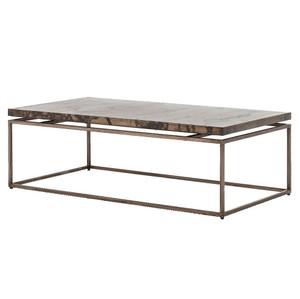 "Roman Box Frame Industrial Iron Coffee Table 53"""