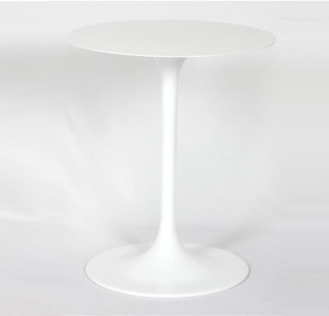 Tulip White Aluminum Round Side Table