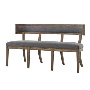 Carter Upholstered Curved Dining Bench