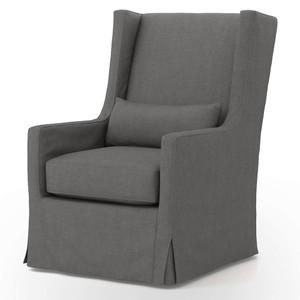Finn Slipcovered Swivel Wing Chair