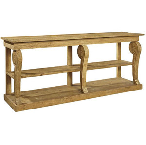 Corsican Reclaimed Wood Console Table with Shelf