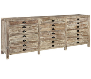 Apothecary Reclaimed Wood 12 Drawer Storage Chest