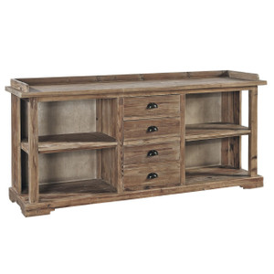 Apothecary Reclaimed Wood 4 Drawer Buffet Server