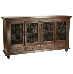 Montecito Solid Wood 2 Door 2 Drawer Sideboard Buffet