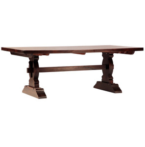 Cordoba Dark Wood Trestle Extension Dining Table 120""