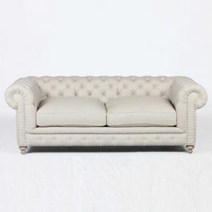 "Warner Linen Chesterfield 77"" Sofa"