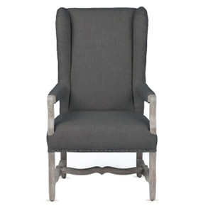 Clara French Wing Wool Upholstered Armchair