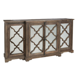Lowery Buffet Sideboard with 4 Glass Paneled Door