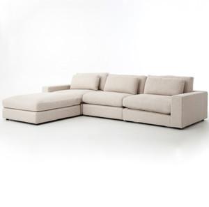 Bloor Beige Contemporary 4 Piece Sectional Sofa