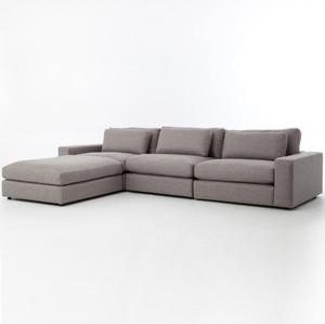Bloor Gray Contemporary 4 Piece Sectional Sofa