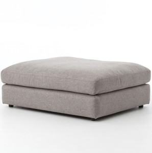 Bloor Contemporary Gray Upholstered Ottoman