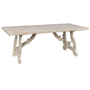 """French Farmhouse Grey Dining Table 78"""""""