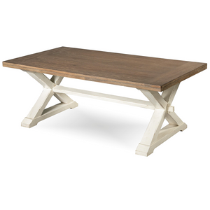 Coastal Beach White Oak Cocktail Table