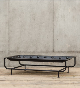 Industrial Metal Riveted Tray Coffee Table