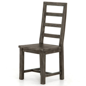 Parsons Reclaimed Wood Dining Chair - Grey