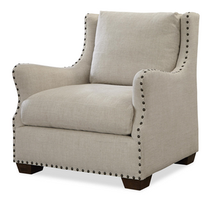 Connor Belgian Linen Slope Arm Upholstered Chair