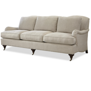 Churchill Linen Upholstered English Rolled Arm Sofa