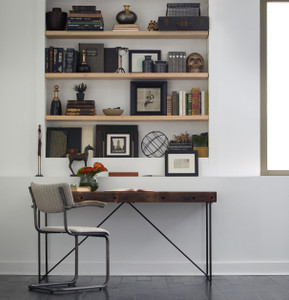 Wright Industrial Modern Wood Office Desk