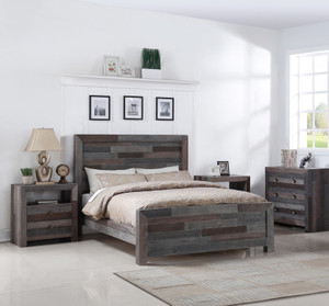 Angora Reclaimed Wood Queen Size Platform Bed