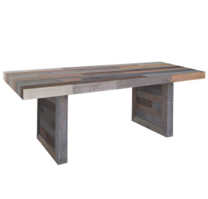 Angora Reclaimed Wood Trestle Dining Table 82""