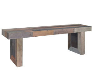 Angora Reclaimed Wood Trestle Dining Bench 71""