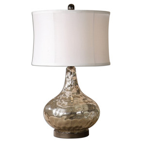 Vizzini Antiqued Nickel Table Lamp