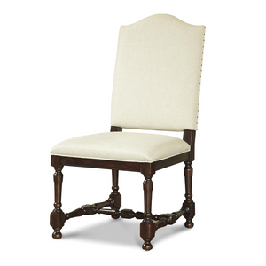 Proximity Upholstered Camelback Dining Side Chair