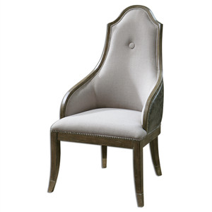 Sylvana Gray Leather Back Dining Chair