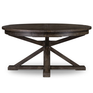 Cintra Reclaimed Wood Expandable Round Kitchen Table 47""