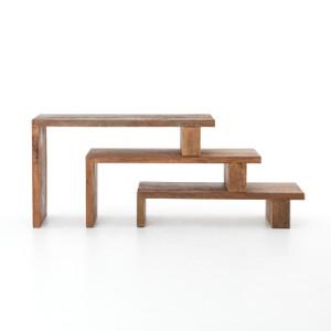 Ferris Reclaimed Wood Modular Nesting Console Table