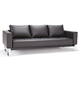 Cassius Q Deluxe Sleeper Sofa Bed-Chrome Legs