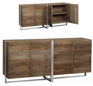 Grant Reclaimed Wood and Metal Sideboard