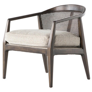 Alexandria Mid-Century Modern Woven Back Accent Chair