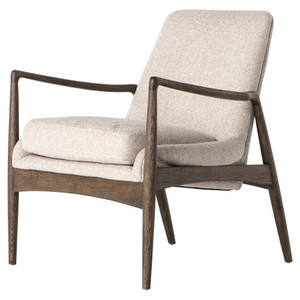 Braden Mid-Century Modern Upholstered Club Chair