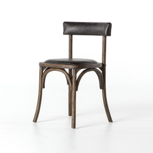 French Farmhouse Chair with Leather Seat