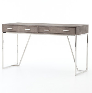 Hollywood Modern Shagreen 2 Drawer Writing Desk