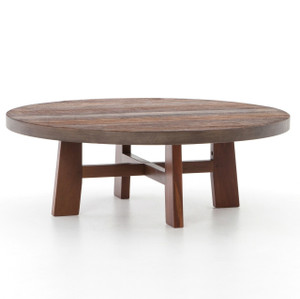 Lauren Reclaimed Wood Round Coffee Table 36""