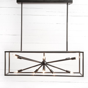 Sputnik Industrial Rectangular Chandelier 48""