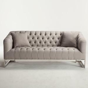 Austin Modern Tufted Sofa - Grey