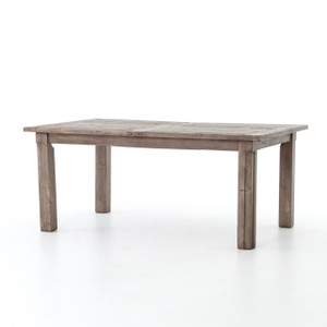 """Cintra Grey Reclaimed Wood Extending Dining Table 72-96"""""""