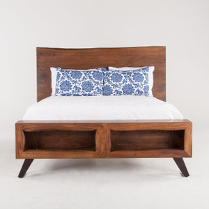Brooklyn Loft Solid Wood King Platform Bed