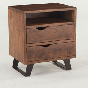 Brooklyn Loft Solid Wood 2 Drawer Nightstand