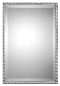 Uttermost Sherise Brushed Nickel Mirror
