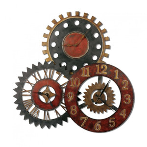 Rusty Movements Rustic Oversize Wall Clock